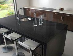 Black Quartz Countertops Colors For Kitchens Quartz Countertops Colors, Cheap Countertops, Butcher Block Countertops, Laminate Countertops, Concrete Countertops, Butcher Blocks, Kitchen Benchtops, Granite Kitchen, Kitchen Countertops