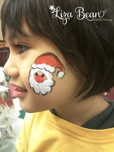 Santa Cheek Art