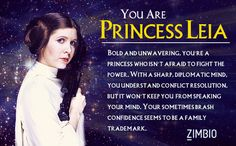 Princess Leia - Which 'Star Wars' Character Are You? OH NO SHES SO BORING IN POLITICS UGH WHY