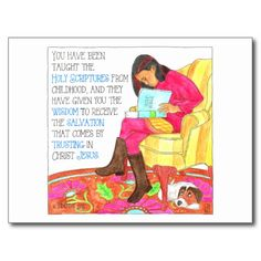 'Scripture' inspirational post card at Zazzle