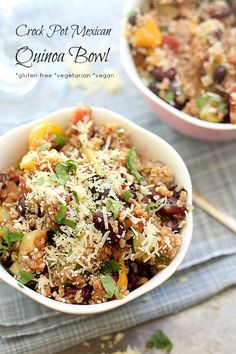 Crockpot Tex Mex Quinoa Recipe | Delightful Mom Food