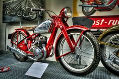 JAWA 175 ccm by Tomas Piller on 500px Motorcycle Museum, Red Motorcycle, Custom Bikes, Cars And Motorcycles, Chrome, Bicycle, Bikers, Vehicles, Wicked