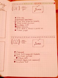 Roby's home life: Il mio Bullet Journal - December setup