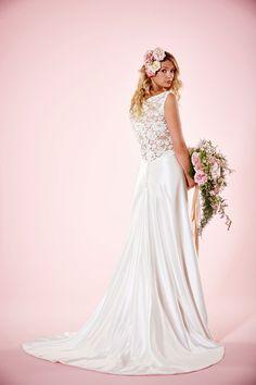 'Boadicia' Back - by UK Designer Charlotte Balbier, Stocked at Cotswold Bride, Cheltenham x