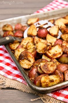 Easy Roasted Potatoes from @Brenda Score | a farmgirls dabbles