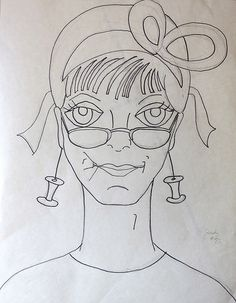 Lady #72 - the drawing