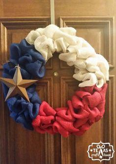 {Texas Craft House} Burlap Texas Wreath with Rustic Star