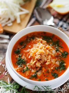 Pin on Beauty Pin on Beauty Kitchen Recipes, Soup Recipes, Cooking Recipes, Healthy Recipes, I Love Food, Good Food, Polish Recipes, Soup And Salad, Soups And Stews