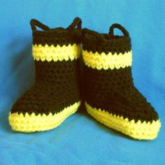 Baby firefighter boots! I think my sister needs to make Paisley a pair of these!!