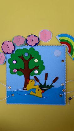 Montessori Books, Montessori Baby Toys, Diy Quiet Books, Felt Books, Infant Activities, Book Activities, Folder Decorado, Silent Book, Felt Board Stories