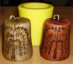 How to Make Primitive Stained Candles