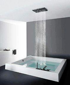 Graues Badezimmer Dekor auf Pinterest  Schwimmenden Bad ...