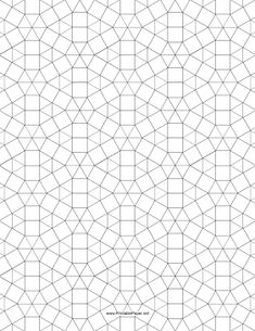 This small tessellation includes triangles and squares. Free to download and print