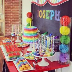 Rainbow themed birthday party ideas #kidspartyideas #partyplanner #catering #decoration #entertainers