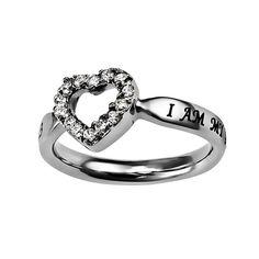 Beloved Open Heart Ring