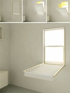 How to made : Flip Down Window Blinds, Space Saving Laundry Room Ideas