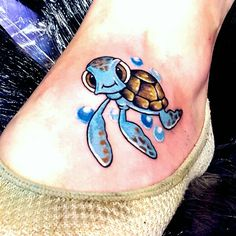 Sqirt the Turtle from Finding Nemo tattoo!