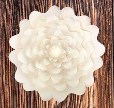 Paper Flower Template DIGITAL PDF DIY Paper Flower