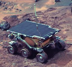 "Mars ""Sojourner"" rover.  Sojourner: Roving on Mars for the First Time"