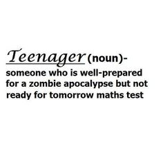I am not prepared for either. If zombies descend, I will most likely die.