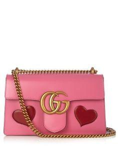 e0fdafa15ab4 GG Marmont leather shoulder bag | Gucci | MATCHESFASHION.COM Gucci Marmont,  Gg Marmont