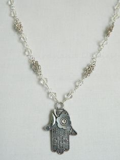 Hamsa and Chainmaille Necklace by Bluebirdsanddaisies on Etsy, £10.00