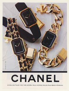 Catchpenny and Accesories - Three beautiful Chanel watches. - 7 Tips to combine catchpenny and accesories Vintage Chanel, Estilo Coco Chanel, Chanel Print, Chanel Watch, Chanel Chanel, Ladies Bracelet Watch, Chanel Jewelry, Gold Jewelry, Bullet Jewelry