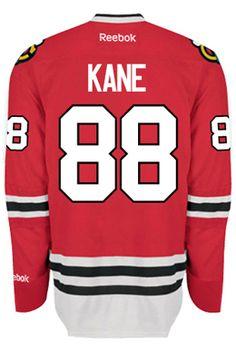 Chicago Blackhawks Patrick KANE #88 Official Home Reebok Premier Replica NHL Hockey Jersey (HAND SEWN CUSTOMIZATION)