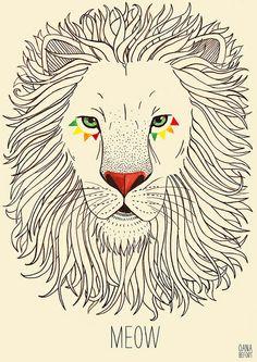 Neat drawing of lion Carja Carja Befort Illustration Friday: ferocious Animal Drawings, Cool Drawings, Illustrations, Illustration Art, Mandala, Lion Art, Art Plastique, Design Art, Artwork