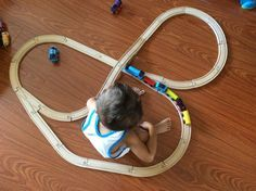 great layout for wooden train tracks train tracks pinterest more wooden train and train. Black Bedroom Furniture Sets. Home Design Ideas