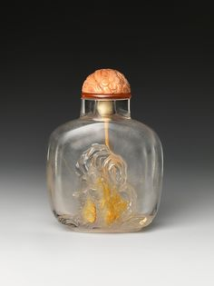 'Two Monkeys and Rock' Snuff Bottle