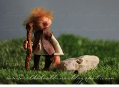 Taistealaiche , the traveller pixie. OOAK fairy art doll. €120.00, via Etsy.