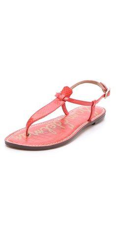 638d885a07ed Sam Edelman Gigi Snake T Strap Sandals T Strap Sandals