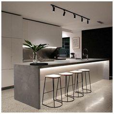 Luxury Kitchen Design, Kitchen Room Design, Home Decor Kitchen, Kitchen Living, Interior Design Kitchen, Home Kitchens, Minimal Kitchen Design, Kitchen Modern, Kitchen Ideas