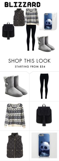 """brrr"" by maryjsullivan on Polyvore featuring UGG Australia, NIKE and J.Crew"