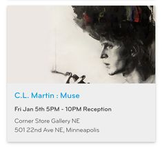 #ArtOpening of figurative paintings inspired by male performers this Fri 1/5, Corner Store Gallery NE, 501 22nd Ave NE, Mpls https://www.mplsart.com/events/c-l-martin-muse