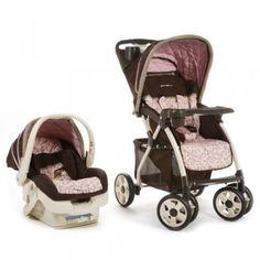 EddieBauer Infant Car Seat and Stroller Pink Adventurer Travel System