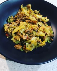 Curried Mince & Cabbage