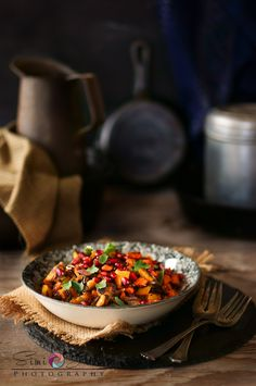 I cannot resist to wild rice. Here with pomegranate, pumpkin and garam masala