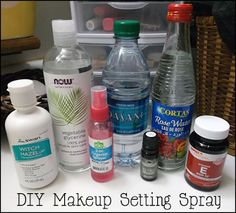 If you want it done right...: DIY Makeup Setting Spray + Toner Recipe
