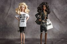 The eight-piece ready-to-wear capsule collection will include adult-size versions of the Barbie's wardrobe and two Moschino Barbie doll-printed T-shirts.