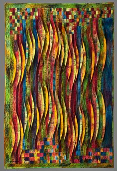 janet hiller quilts -Great inspiration for glass designs Patchwork Quilting, Quilt Inspiration, Fiber Art Quilts, Landscape Art Quilts, Quilt Modernen, Colorful Quilts, Strip Quilts, Contemporary Quilts, Quilted Wall Hangings