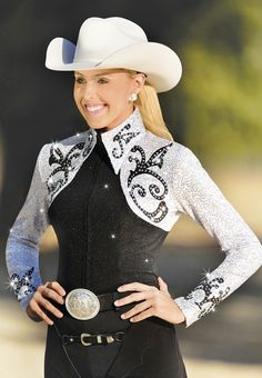 For someone who shows Western, Hobby Horse apparel is always an option.  Limoges Blouse, Carousel Collection, $249.95