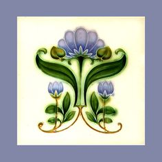 "24 Original Art Nouveau tile by Gibbons Hinton (1908). Courtesy of Robert Smith from his book ""Art Nouveau Tiles with Style"". Buy as an e-card with a personalised greeting!"