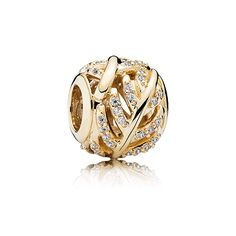 Gold Shimmering Feather Charm - 750831CZ - Charms | PANDORA