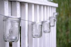 Is there anything better than a long evening spent on a back porch with twinkling Mason jar lights? We think not. With this craft from blogger Kristina Booher, galvanized cable and tea light candles lend their talents to a rustic, easy-to-make backyard accessory. Get the tutorial at Simply Bold.   - CountryLiving.com