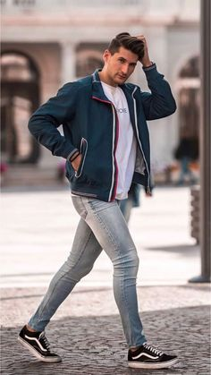 22 Cool casual outfits for you! Fashion Moda, Sport Fashion, Guy Fashion, Fashion Outfits, Mens Fashion, Sport Outfits, Cool Outfits, Casual Outfits, Men Casual