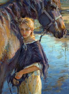 girl and horse by Daniel F. Gerhartz ~Ismay
