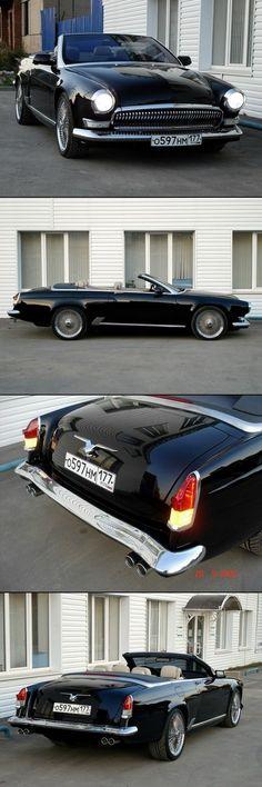 Modern BMW gets a Vintage Makeover BMW 6-series customised to mimic a 1950s Volga GAZ-21