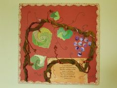 I Am The Vine Iris Paper Folded Mixed Media by GodsCollage on Etsy, $25.00